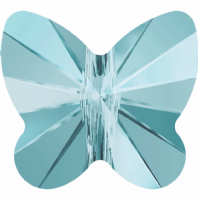 6 Light Turquoise Swarovski Crystal 5754 Butterfly 8mm Beads